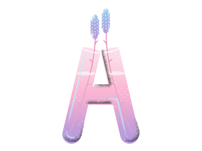 A science flowers typography lettering type
