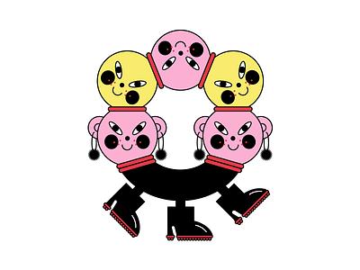 Round fun illustration