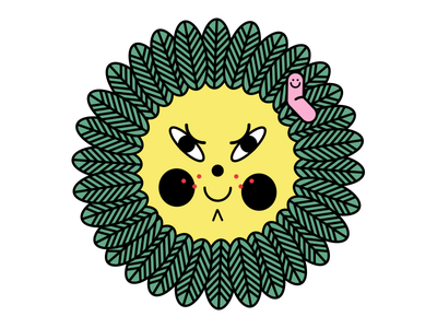Green Eyesore evil yellow worm flower floral green