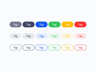 Colorful Tags  Wip colorful tag tags design-system web-design web
