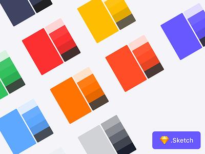 Customizable Palette - V2 palette color sketchapp sketch freebie