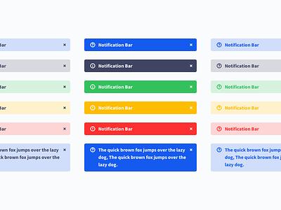 Notification Bar design system web ui uiux bar notification bar notification