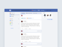 redesign for Facebook News Feed
