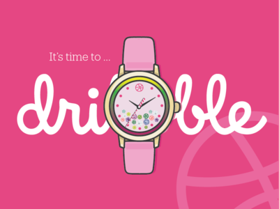 It's time to dribbble crystals vector pink invite illustration hello dribbble dribbble basketball thank you watch