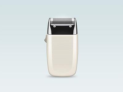 Braun Razor steel stainless plastic realistic 3d iphone clean design razor braun icon