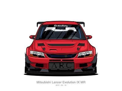 Mitsubishi Lancer Evolution IX mitsubishi wrc race shot red photoshop design icon evo car