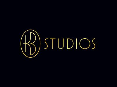 KB Studios Logo luxury wedding monogram logo typography hunter oden