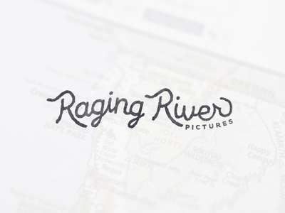RRP Logo Draft hunter oden monoline hand lettered branding logo vintage stamp texture