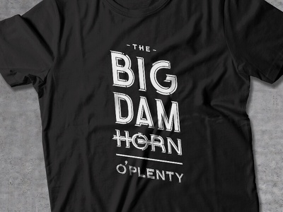 The Big Dam Horn O'Plenty hunter oden identity logo