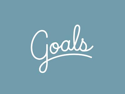 Goals hunter oden monoline g lettering lockup script handlettered