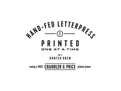 Letterpress Emblem hunter oden lockup typography emblem letterpress