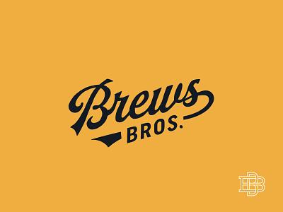Brews Brothers Script Lockup hunter oden typography script lockup logo beer flat vintage arkansas