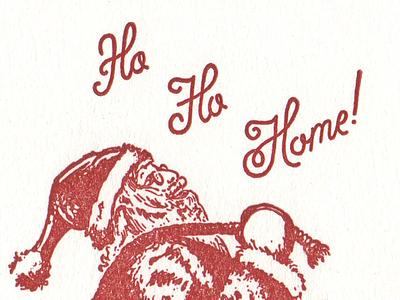 Santa Claus Letterpress hunter oden christmas letterpress script santa vintage