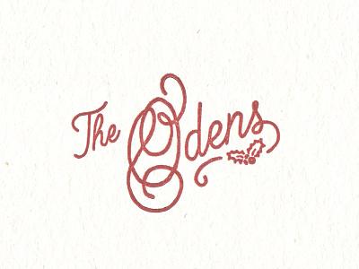 Oden's Sig hunter oden letterpress vintage christmas script monoline