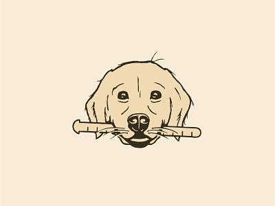 Golden Retriever Illustration hunter oden illustration dog letterpress vintage