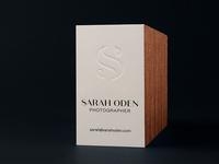 Sarah Oden Photographer Business Cards