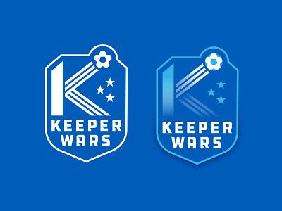 Keeper Wars shield badge sports crest soccer branding flat logo illustration hunter oden