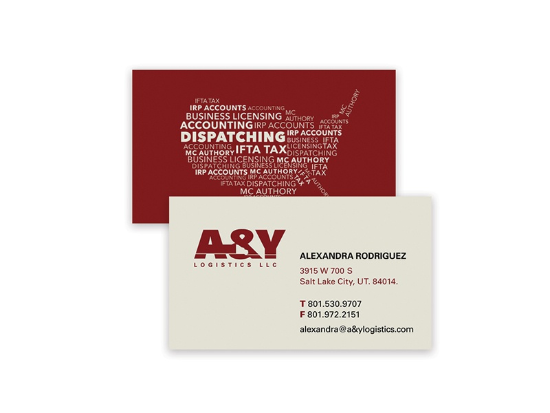 Ay Logistics Business Cards By Antonio Hernandez Dribbble Dribbble