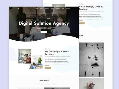 Lia Creative Agency - Onepageboss agency branding portfolio bootstrap design clean webdesign new creative web