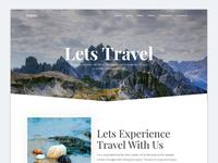 Travas  - Travel agency landing page