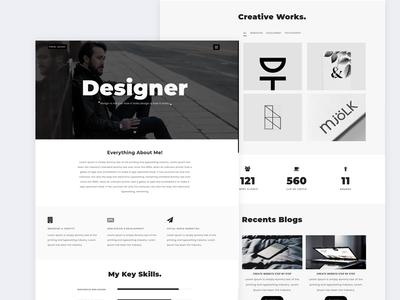 Designer   Personal Portfolio Template