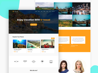 V Travel   Travel Agency Responsive Website Template