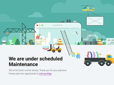 maintenance page reconstruction maintenance