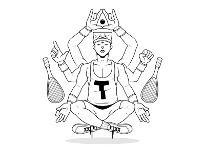 The God of Squash WIP character design illustration religion god squash
