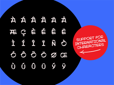 Sidestroke International Characters vector branding typography lettering type