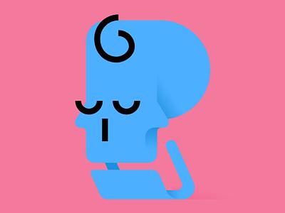 Skully simple skull character illustration