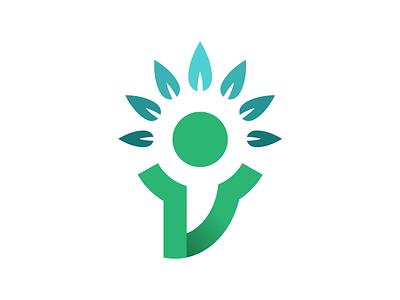 Unused person human logo branding