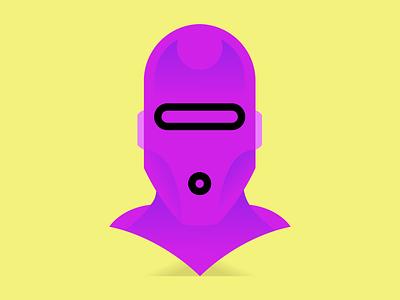 Robot gradient minimal bold design art illustrator vector drawing character cartoon illustration