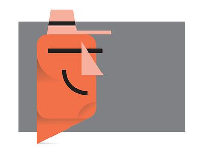 Pilgrim logo vector type typography drawing cartoon character illustration