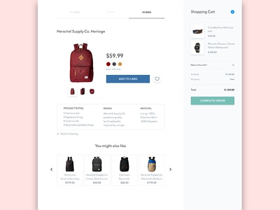 Add to shopping cart page