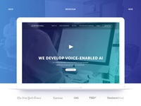 Web redesign for Voice-enabled AI startup
