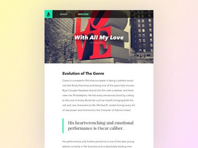 Daily UI - 035 - Blog Post