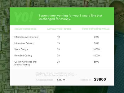 Daily UI - 046 - Invoice tables money invoice dailyui