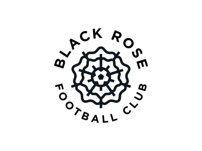 Black Rose FC Logo soccer monoline branding logo football club black rose