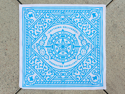 Favor Bandana illustration cactus bowtie seal texas bandana delivery favor
