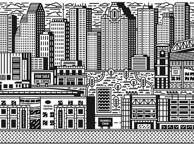 CBRE Murals - East astros rockets dynamo design houston illustration monoline mural project secret texas architect