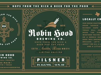 Robin Hood Brewing Co. Beer Label