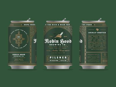 Robin Hood Brewing Co. Can Mockup