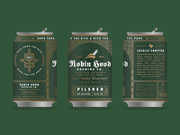 Robin Hood Brewing Co. Can Mockup