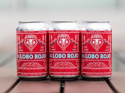 El Lobo Rojo Beer label