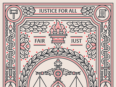 I Heart Justice Poster austin texas social scales poster monoline justice illustration