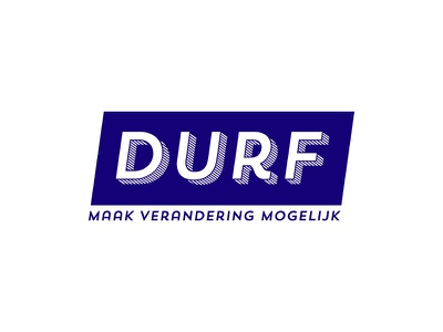 """Local party """"DURF"""" blue local logo"""