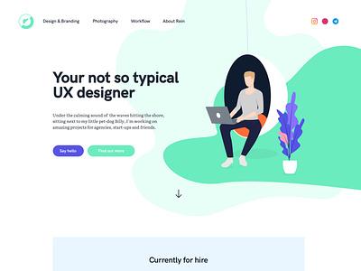 Personal/Business Website - Op Het Web webdesign branding personal brand ux design illustration for hire ux