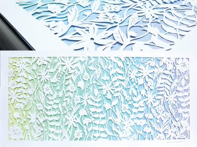 Garden of Flowers Paper Cut paintchips flowers papercut
