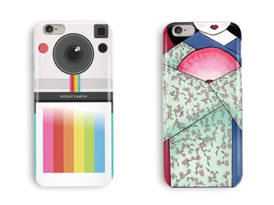 Phone Case Skins kimono japan polaroid mobile iphone mockup case phone