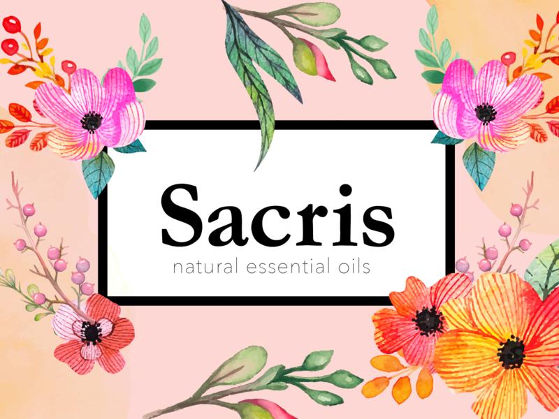 Sacris Essential Oils floral feminine branding logo concept small business essential oils winnipeg
